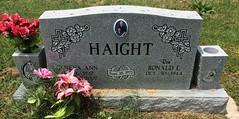 Haight Headstone (eloisedv) Tags: oklahoma cemetery headstone gravemarker cartercounty lonegrove