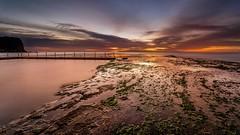 Wet Feet (scotty-70) Tags: morning pool clouds sunrise dawn sony voigtlander australia shore nsw a7 monavale rockpool cloads oceanpool lenstagger
