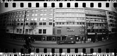 20160404-DSC_8750 (sarajoelsson) Tags: city urban blackandwhite bw panorama film monochrome 35mm gteborg march sweden gothenburg toycamera wideangle panoramic hp5 135 ilford everydaylife 2016 plasticlens filmphotography sprocketholes filmisnotdead filmshooter teamframkallning sprocketrocket believeinfilm digitizedwithdslr