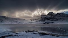 dove il sole va a dormire (TIMPICE) Tags: mountain lake ice water clouds landscape nikon