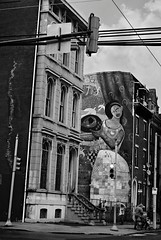 DaR3-E101 (David Swift Photography Thanks for 16 million view) Tags: film philadelphia 35mm streetphotography murals publicart ilfordxp2 victorianhouses streetscapes muralartsprogram northphilly yashicat4 davidswiftphotography