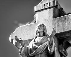 INRI (k.jessen) Tags: blackandwhite cemetery jesus havana cuba inri necrpolisdecoln