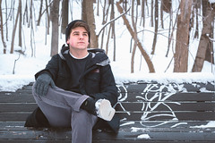 Will (Brock Jenken) Tags: winter boy portrait bench montreal hiver royal mcgill homme mony garcon
