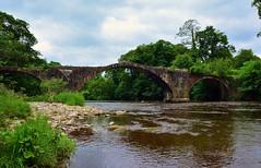 Cromwell Bridge Clitheroe (Joan's Pics 2012) Tags: landscape arches lancashire architeture clitheroe riverhodder cromwellsbridge