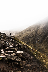 Hiking the Mountain Path (^Michael Bischof^) Tags: mountain snow nature beautiful fog canon landscape photography eos scotland spring ben 5d nevis 5ds