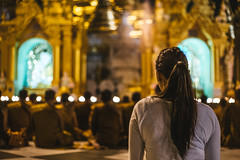Monks praying at Shwedagon Pagoda (ReinierVanOorsouw) Tags: reizen myanmar birma burma travelling travel travelstoke reiniervanoorsouw sony sonya7r sonya7rii a7rii asia asya azie yangon yangoon rangon rangoon shwedagon shwedagonpagoda pagoda