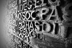 The Doors of Passion (Helen R Lambert) Tags: thedoorsofpassion gaudi blackandwhite holy famliy sagrada familia spain barcelona