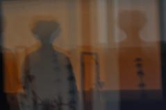 Fade into black (juanmindreau) Tags: two portrait self lights warm shadows geometry shape