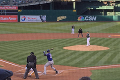 A's and Rangers June 2016 (rschnaible) Tags: sports sport oakland major texas baseball pass professional entertainment times sporting rangers mlb leagues as