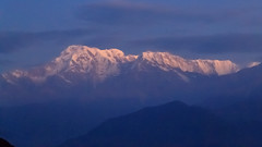First Light - Annapurna South and Hiunchuli - Shot from Sarangkot, Nepal (Anita Gilmore) Tags: nepal annapurna hiunchuli sarangkot pokhara mountains himalaya himalayan annapurnasouth sunrise morning dawn daybreak foggy fog haze hazey