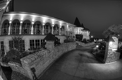 442 - The mansion (mlNYs) Tags: bw white black building night lights nikon mansion fx luxembourg hdr entry manfrotto blackdiamond remich 16mmf28dfisheye nikoniste d700 360project mlnys nikkor16mmf28dfisheye blackandwhitemnight 22mar2012