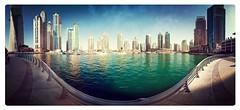 Dubai Marina in Panorama (Amir Maljai(امیر ملجائی)) Tags: landscape nikon uae d200 dubaimarina marinawalk supershot cylindricalpanorama amirmaljai flickraward