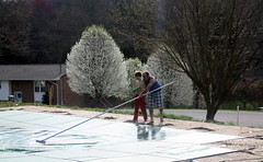 Swimming Pool Upkeep (Marlisa Osborne) Tags: jacob swimmingpool wallace wallacemoura