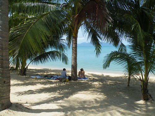 Resting in the shade, Mae Nam Beach, Ko Samui, Thailand