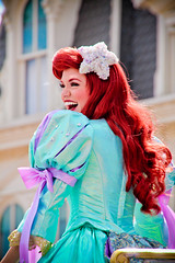 Ariel (abelle2) Tags: ariel princess disney parade disneyworld mermaid wdw waltdisneyworld magickingdom disneyprincess thelittlemermaid disneyparade princessariel celebrateadreamcometrueparade celebrateadreamcometrue