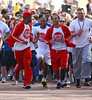 Orits� Williams, Aston Merrygold, JB Gill and Marvin Humes of JLS Sainsbury's Sport Relief Mile 2012 - London