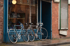 Bikes in Tandem (On the mountain at dawn) Tags: manchester candid photographic days rainy