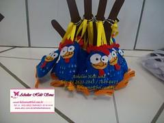 CHAVEIRO EM FELTRO GALINHA PINTADINHA (cantinho-helo) Tags: galinha feltro em camisetas chaveiro pintadinha customisadas