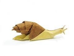 Snail (Al3bbasi.) Tags: paper insect origami snail al3bbasi