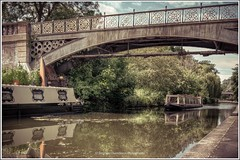 Narrow Boat (Stephen Champness) Tags: bridge trees sky london water clouds reflections zoo boat town canal camden sony reflect adobe alpha narrow hdr regents lightroom grren a290 photomatix