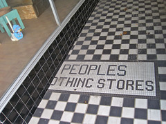 Peoples Clothing Stores, Monroe, LA (Robby Virus) Tags: tile store clothing louisiana peoples entryway storefront monroe stores entry tiled