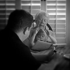 Nursery times (Michael Kenan) Tags: grandma mom dad nursery granddaughter rymes
