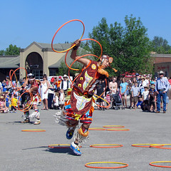 Hoop Dance (njchow82) Tags: together calgarystampede dalhousiestation faterandson hoopdancers nancychow canonpowershotsx30is caravanpancakebreakfast