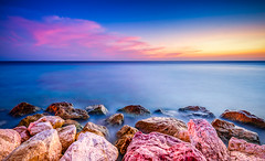 Colored Chasm (jetrated) Tags: seascape rocks curacao
