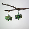 Eco Green Earrings +