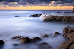 Bronte Pool (stevoarnold) Tags: ocean longexposure blue sea beach water pool clouds sunrise sydney australia nsw newsouthwales swimmers bronte citybeach easternsuburbs