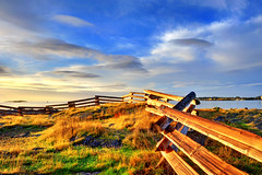 What do Dreams Know of Boundaries, Victoria, BC (Northern Straits Photo) Tags: ocean canada nature beautiful sunrise fence landscape skies bc britishcolumbia awesome victoria top10 cattlepoint fencefriday mygearandme mygearandmepremium northernstraitsphotography
