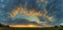 sunset panorama (a77ard) Tags: trees light sunset panorama sun holland art netherlands clouds digital canon boer island photography evening europe stitch nederland thenetherlands 8mm hdr texel allard 450d canon450d allardboer a77ard