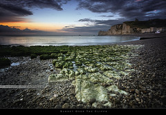 Sunset over the cliffs (bgspix) Tags: sunset sun seascape france landscape interesting cliffs normandie normandy hdr etretat falaises canonef1740f4l canoneos5dmarkiii bgspix