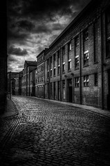 219/366 It's Grim Up North... (Mark Seton) Tags: blackandwhite cloud oneaday photo blackwhite nikon leeds photoaday cobbles westyorkshire pictureaday d800 dockstreet cobbledstreet project365219 nikond800 project365060812