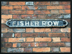Fisher Row (Isisbridge) Tags: street old city uk red england urban brick english sign wall town britain august oxford british oxfordshire stthomas 2012 fisherrow