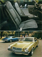 1974 Chevrolet Camaro Sport Coupe (coconv) Tags: pictures auto old classic cars chevrolet car sport vintage magazine ads advertising cards 1974 photo bucket flyer automobile post image photos antique album interior postcard ad picture images camaro advertisement vehicles photographs chevy card photograph seats postcards vehicle autos collectible cloth collectors brochure 74 coupe automobiles dealer houndstooth prestige