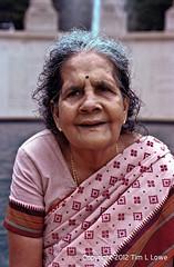 Beauty (Tim L Lowe) Tags: woman india chicago beauty nikon grandmother kodak f100 millenniumpark sari portra160