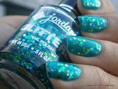 Jordana  Boy Oh Boy + Cosmic (Mica Cavalcante) Tags: verde azul glitter hexagonal jordana nails nailpolish cosmic unhas glitters turquesa esmalte naillacquer verniz boyohboy