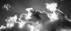 Clouds. (Alan Swan! facebook.com/EdinburghGigPhotography) Tags: blue light sky blackandwhite cloud sun white black sunshine clouds contrast high shine justclouds