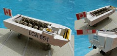 WWII LEGO Royal Canadian Navy Landing Craft Assault LCA651 (33rd AFV)