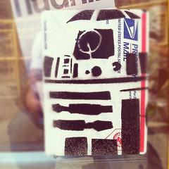 R2 (billy craven) Tags: chicago graffiti starwars stencil sticker r2d2 usps handstyles slaptag label228 uploaded:by=instagram