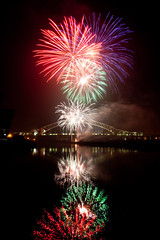 Runcorn Fireworks (juliereynoldsphotography) Tags: reflections river fireworks mersey runcorn runcornbridge juliereynolds