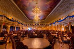 Magic Kingdom - Be Our Guest Ballroom (SpreadTheMagic) Tags: our castle beauty orlando unitedstates chairs florida magic royal kingdom disney ballroom tables be chandeliers beast banquet resturant guest wdw fantasyland