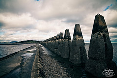 Cramond Causeway & Island (Paki Nuttah) Tags: uk water clouds river island scotland edinburgh europe cloudy ngc almond forth gb causeway firth cramond flickrtravelaward