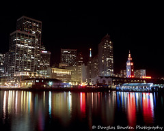 The Embarcadero at Night No.1 (Douglas Bawden Photography) Tags: sanfrancisco longexposure nightphotography tlr film mediumformat ishootfilm slidefilm slides ektachrome twinlensreflex kodakfilm colorreversalfilm reciprocityfailure mamiyatlr benro gossenlunasix3 mamiyac220f mamiyasekor55mmf45 manilovefilm epsonv750mpro filmisntdeaditjustsmellsfunny mediumformatfilmcamera mamiyac220fprofessional kodakektachrome100gprofessional
