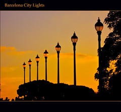 2012 10 06 Barcelona City Lights (Mister-Mastro) Tags: barcelona water wasser sonnenuntergang sundown games spiele mfcc 100commentgroup