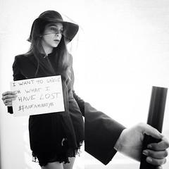 Day 8/365 (Miriam Mattouk) Tags: portrait woman selfportrait self project diptych war noir message retro 365 martyr 365project