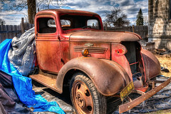 copyright chevrolet truck canon spring rust michigan rusty chevy april canon5d upnorth hdr smörgåsbord 2014 whittemore ef24105mmf4lisusm cs5