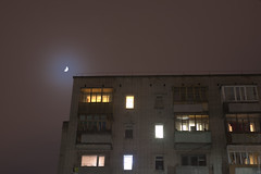 (engine9.ru) Tags: moon mist window fog buildings russia      arkhangelsk