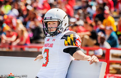 Maryland_White_on_Red_20160416_0837.jpg (hillels) Tags: park game college sports field sport photography one football spring team dj outdoor stadium maryland capitol practice terps byrd durkin collegepark testudo byrdstadium terp capitolonefield djdurkin